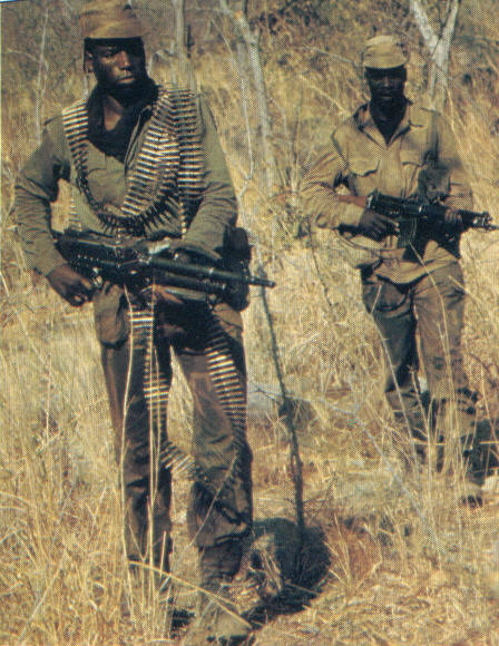 Heavily armed scouts with MAG58 and FN FAL.