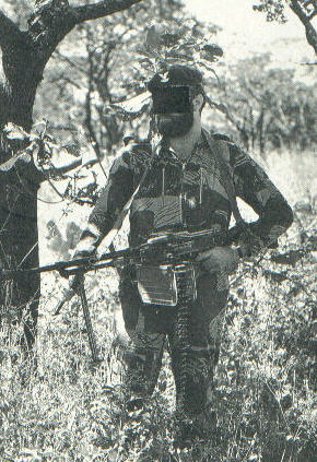 Selous Scout armed with a soviet PK MG.